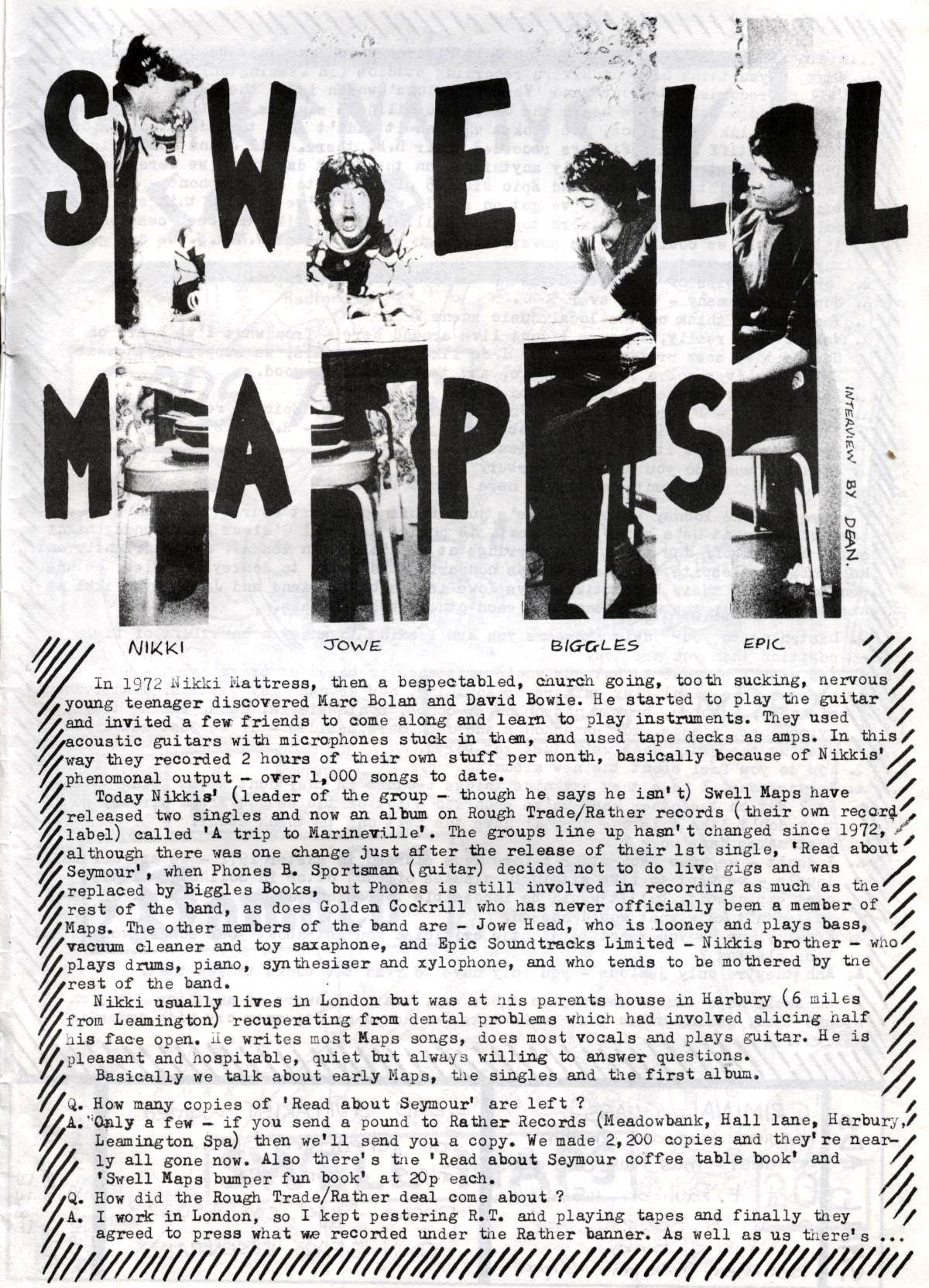 SWELL MAPS - Hobo - A to Z of Coventry Bands on