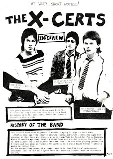 Fanzine Interview with Dave Pepper and the X-Certs