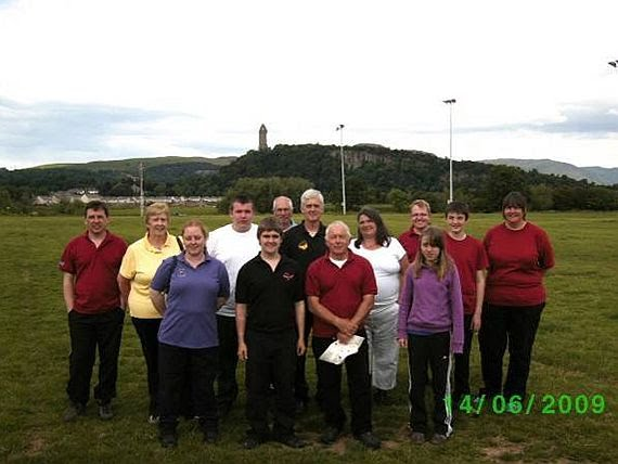 Group photograph of participants of the Bannockburn Open Double Warrick Shoot