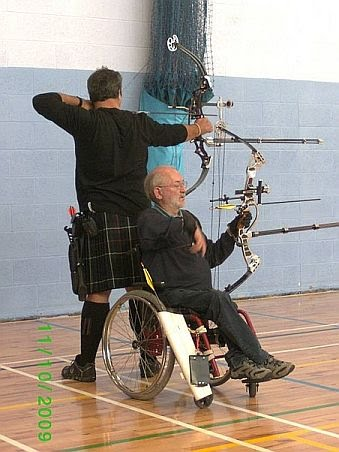 Derek McAulay (Left) and David Cowieson (Right) on the shooting line