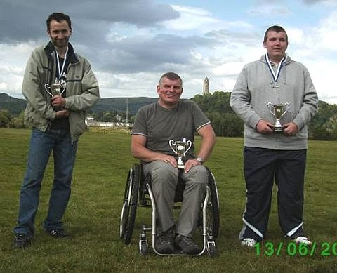 Photograph of class winners of the Scottish Championships for Archers with Disabilities