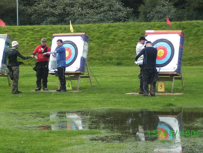 Picture of waterlogged field at Gents 90 metre target