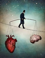 The Dynamic Balance Between Thoughts and Feelings — Digital Art by Christian Schloe