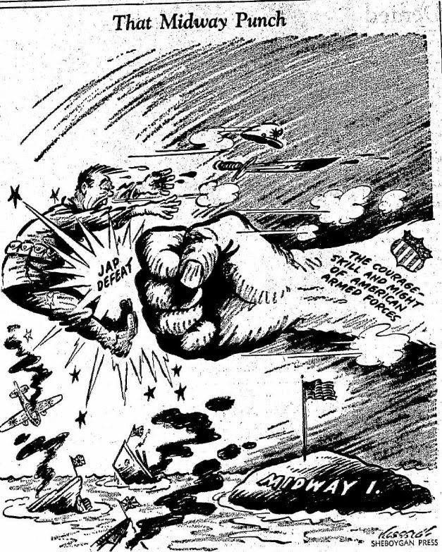 Political Cartoons - Battle of the Pacific