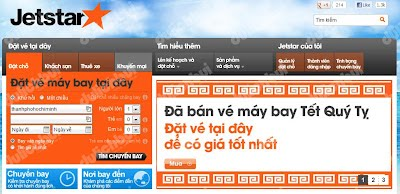 Ve may bay Tet cua Jetstar