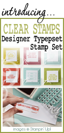 Designer Typeset Stamp Set by Stampin Up