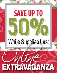 20% to 50% off select Stampin' Up! paper crafting tools & supplies during Online Extravaganza