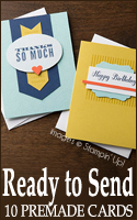 Ready To Send - 10 Premade Cards by Stampin Up