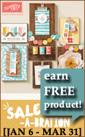 Sale-a-bration 2015, earn free products from Stampin Up
