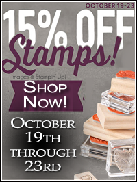 Last chance for 15% off Stampin' Up! Stamps!