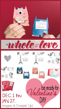 Whole lot of love, Valentines Day, Stampin Up