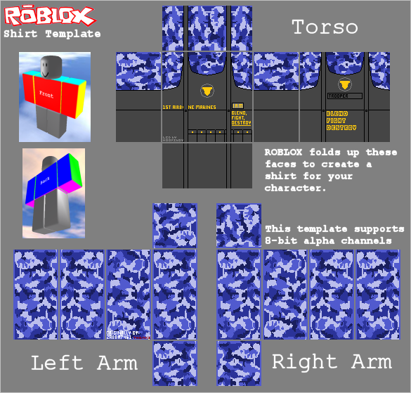 Roblox Shirt Template Blue Camo First Airborne Marines Zabba7461 S Clothing And Pictures
