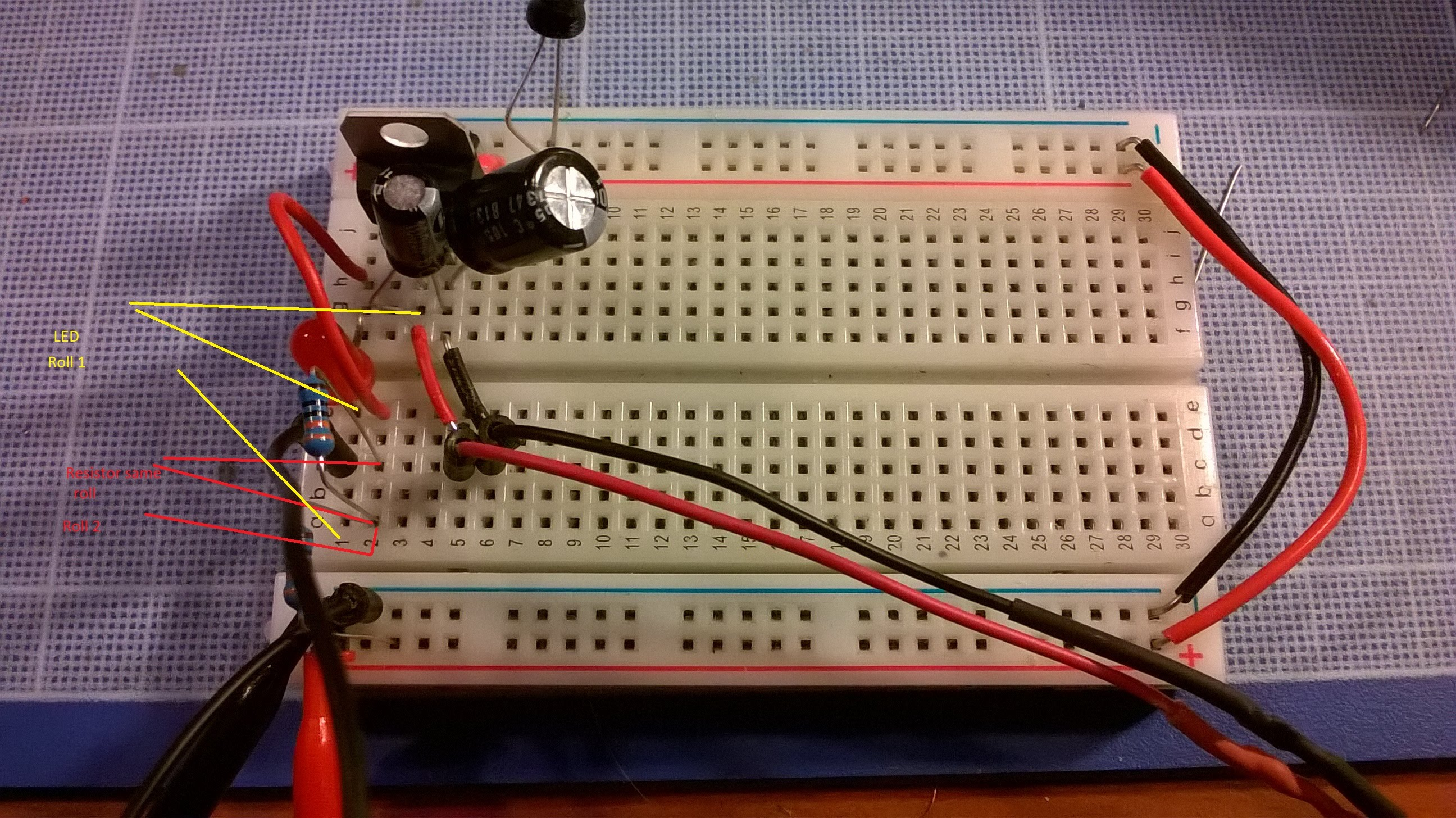 7805 Breadboard Related Keywords Suggestions How To Make Dtmf Decoder Miniproject Myclassbook Arduino On A Problem With Voltage