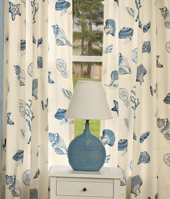 beach themed curtains