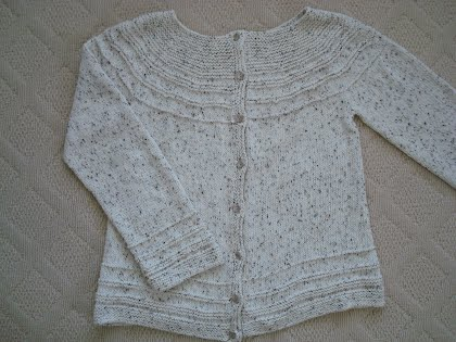 Transitions Yoke Cardigan - Beckys Knitting Patterns