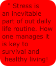 stress is inevitable part of life