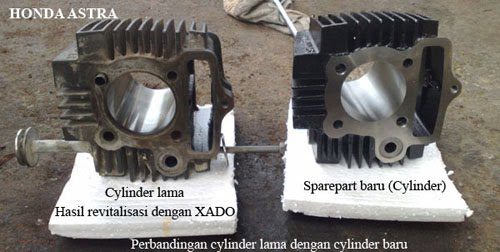 Perbandingan cylinder baru dengan cylinder lama