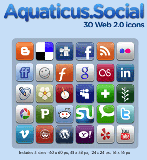 Social Bookmarks icons