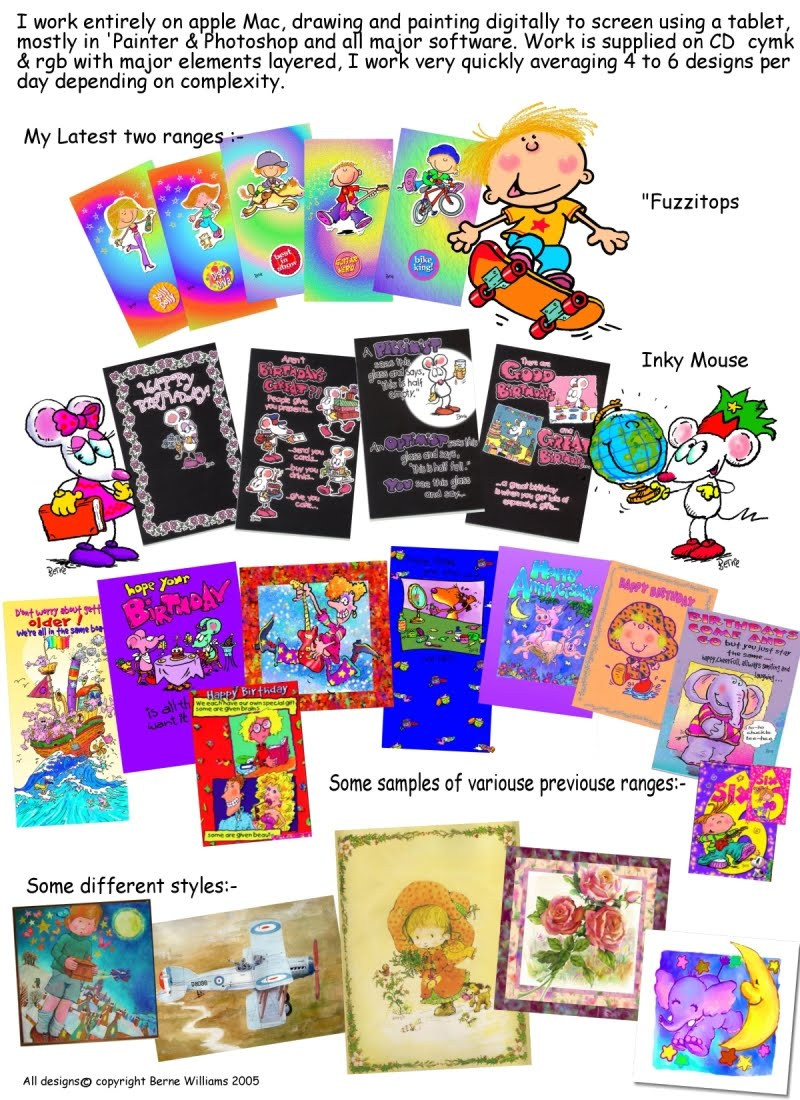 Greeting cards berne williams art music words a selection of greeting card designs for hanson white carlton cardsexcelsior graphics hallmark cards simon elvin graphics and many of the other uk card kristyandbryce Choice Image