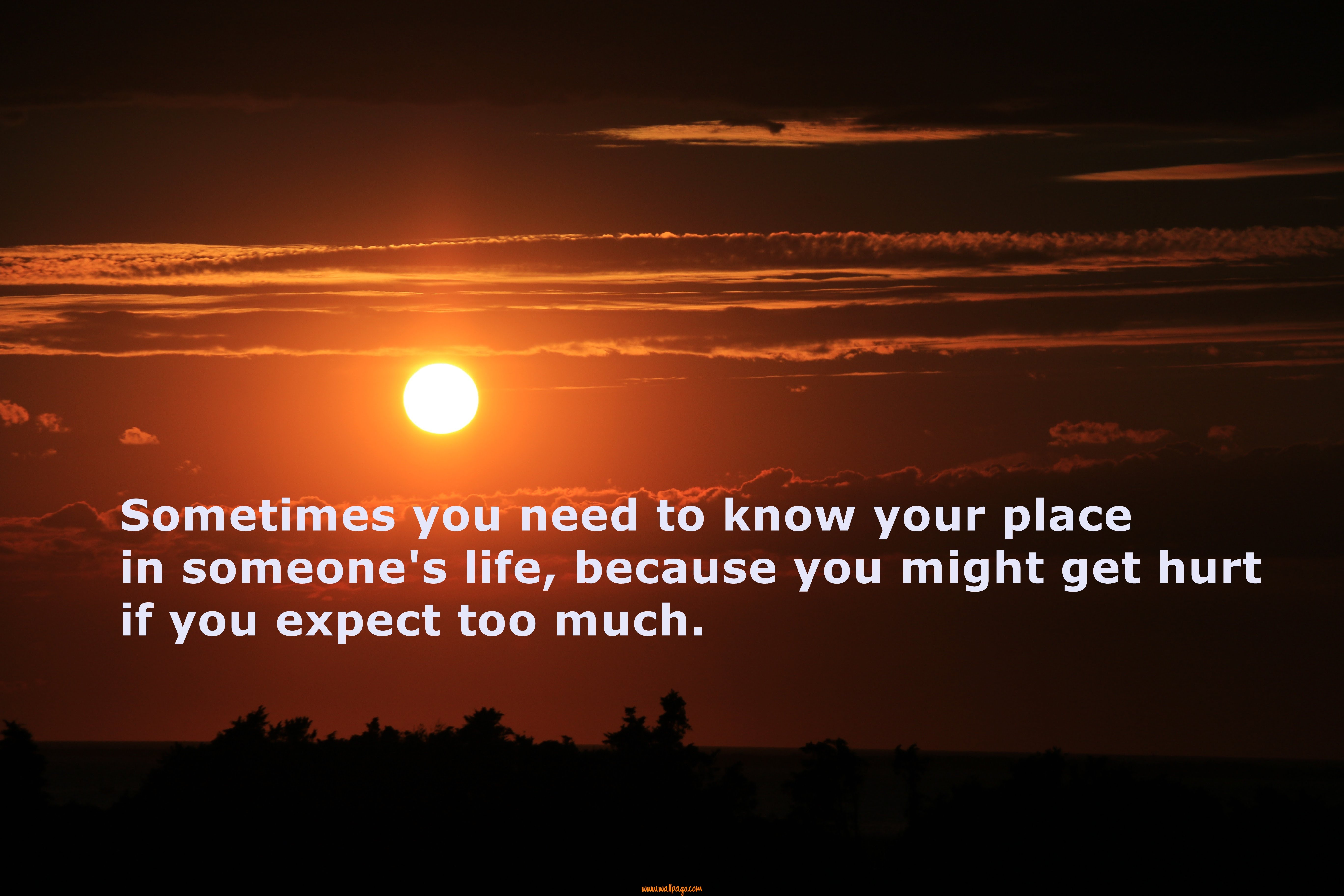 Sometimes You Need To Know Your Place In Someones Best Life Quotes