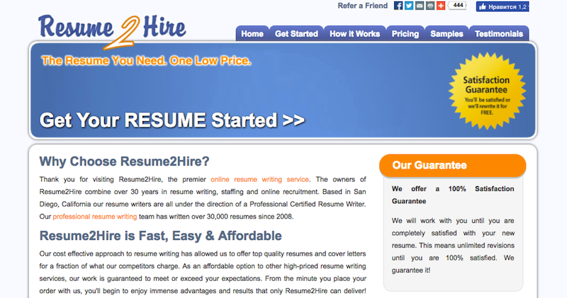 Resume2Hire.com Review - Best Resume Writing Services Reviews