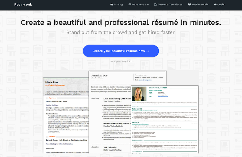 Resumonk.com Review  Resume Com Review
