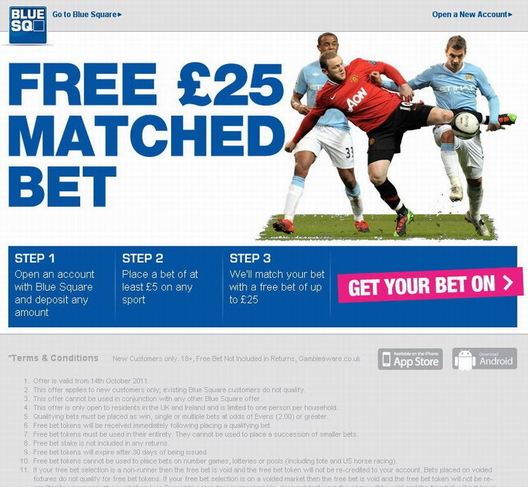 Blue square betting application udinese sampdoria betting preview on betfair