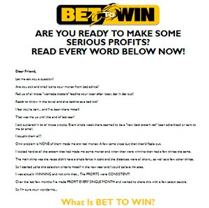 Bet To Win Review - Best Betting System Reviews