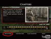 Mutator button in the Chapters menu