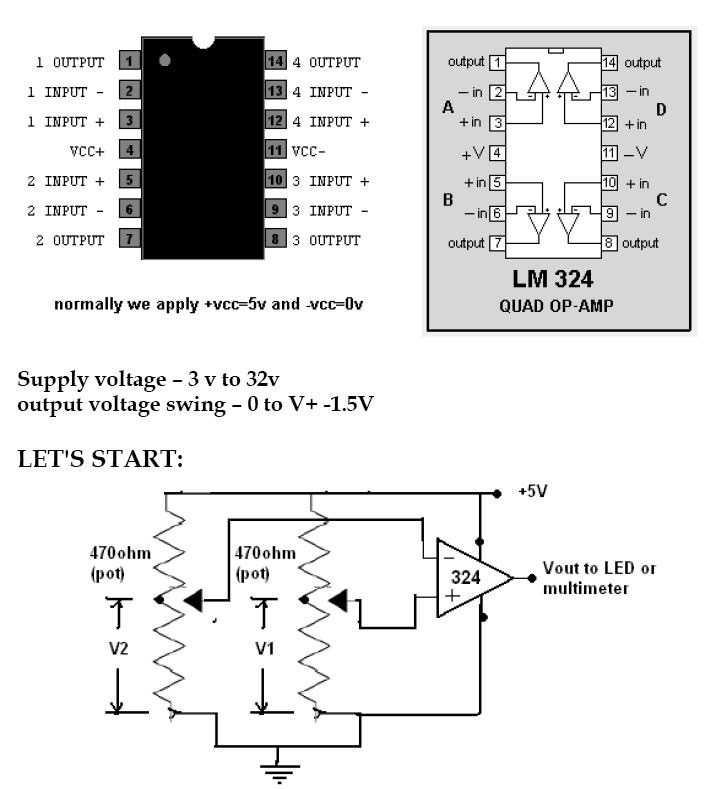 lm324n schematic circuits simple schematic diagrams