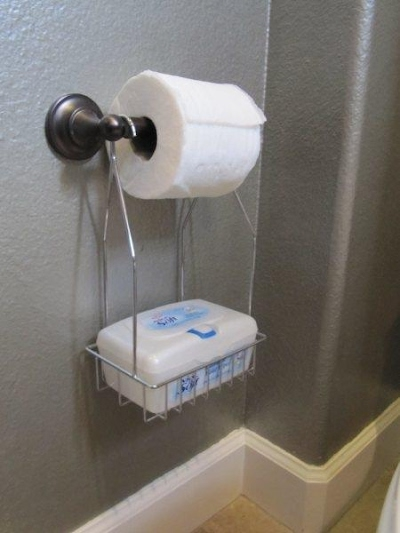 Wet Wipes Box Holder Hangs Below Toilet Paper Ebay