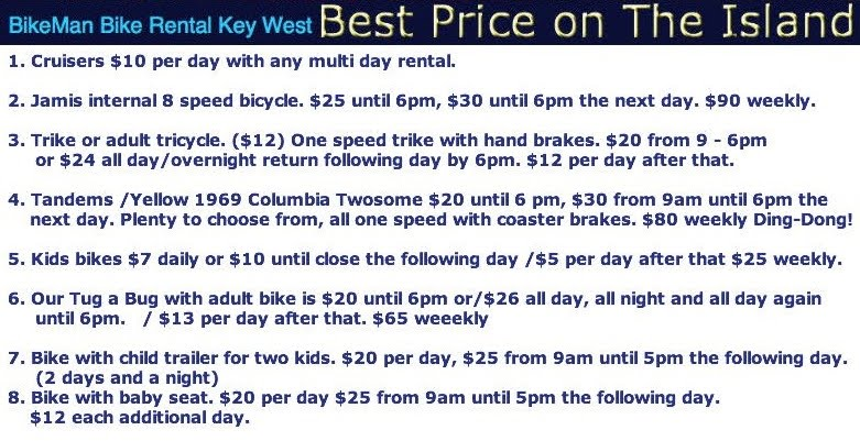 price to rent a bike in key west
