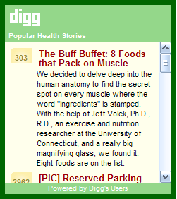 Popular Digg.com Health Stories