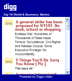 Top 10 Digg.com World and Business Stories