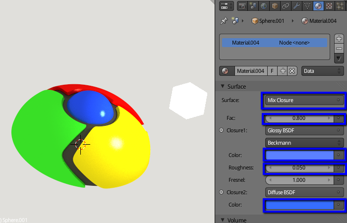 how to change the colour of an image on blender