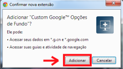 confirmar instalar Custom Google