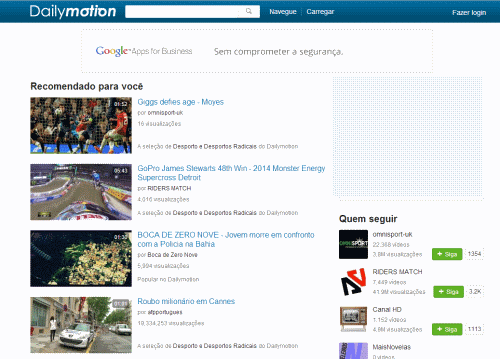 home Dailymotion