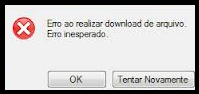erros no download