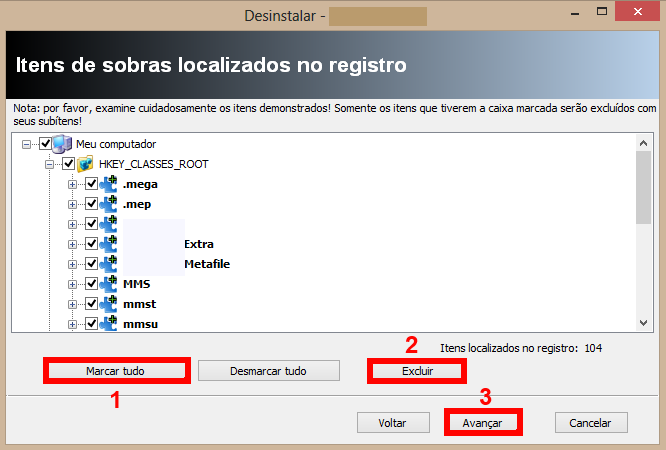 remover sobras no registro com o Revo Uninstaller