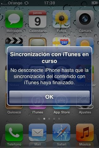 Sincronización con iTunes tras la restauración del iPhone 3GS