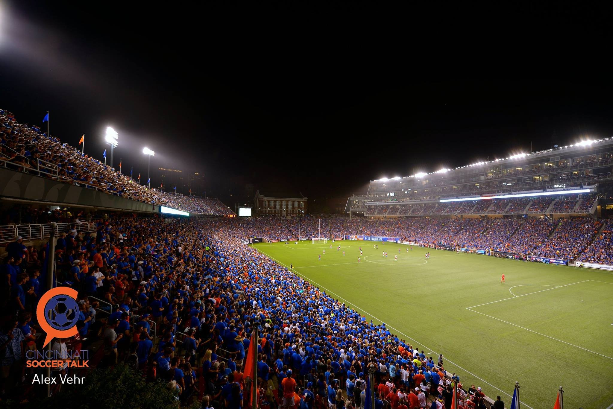 Check out this FC Cincinnati crowd. They are one of the highest attended football clubs in the USA!