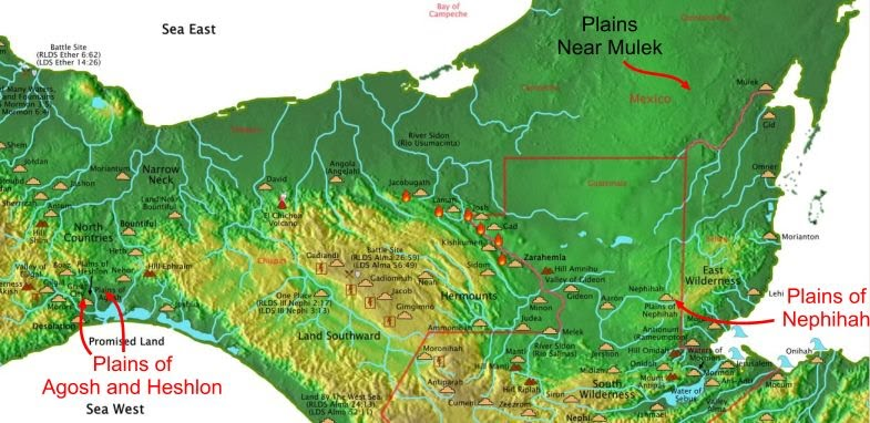 Map Of Mesoamerica Plains in Mesoamerica   Book of Mormon Geography