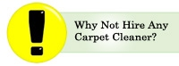 Why not hire any carpet cleaner?
