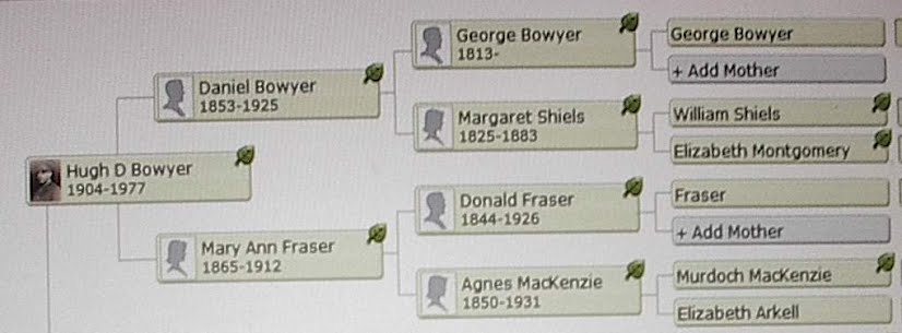 Bowyer Dickson Family Ancestry, Genealogy, History, and