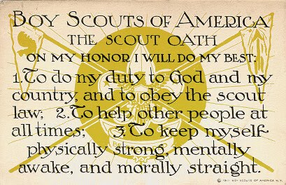 Scout Law (1913) - Boy Scout Postcards