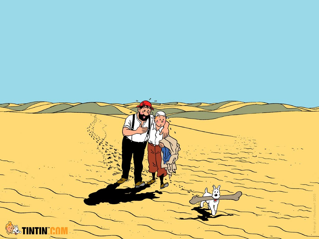 Tintin Milou Haddock Tintin Haddock et Milou