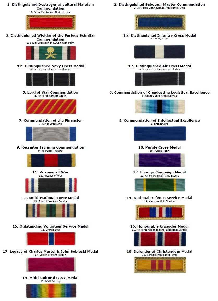 Ribbons Mounted In A Ribbon Rack Ilrating And Symbolising Our 19 Diffe Medals See Name Relation To Original For Ordering Purposes