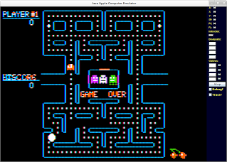 Pacman with debugger visible