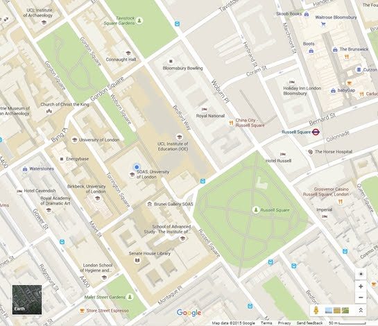 map to SOAS