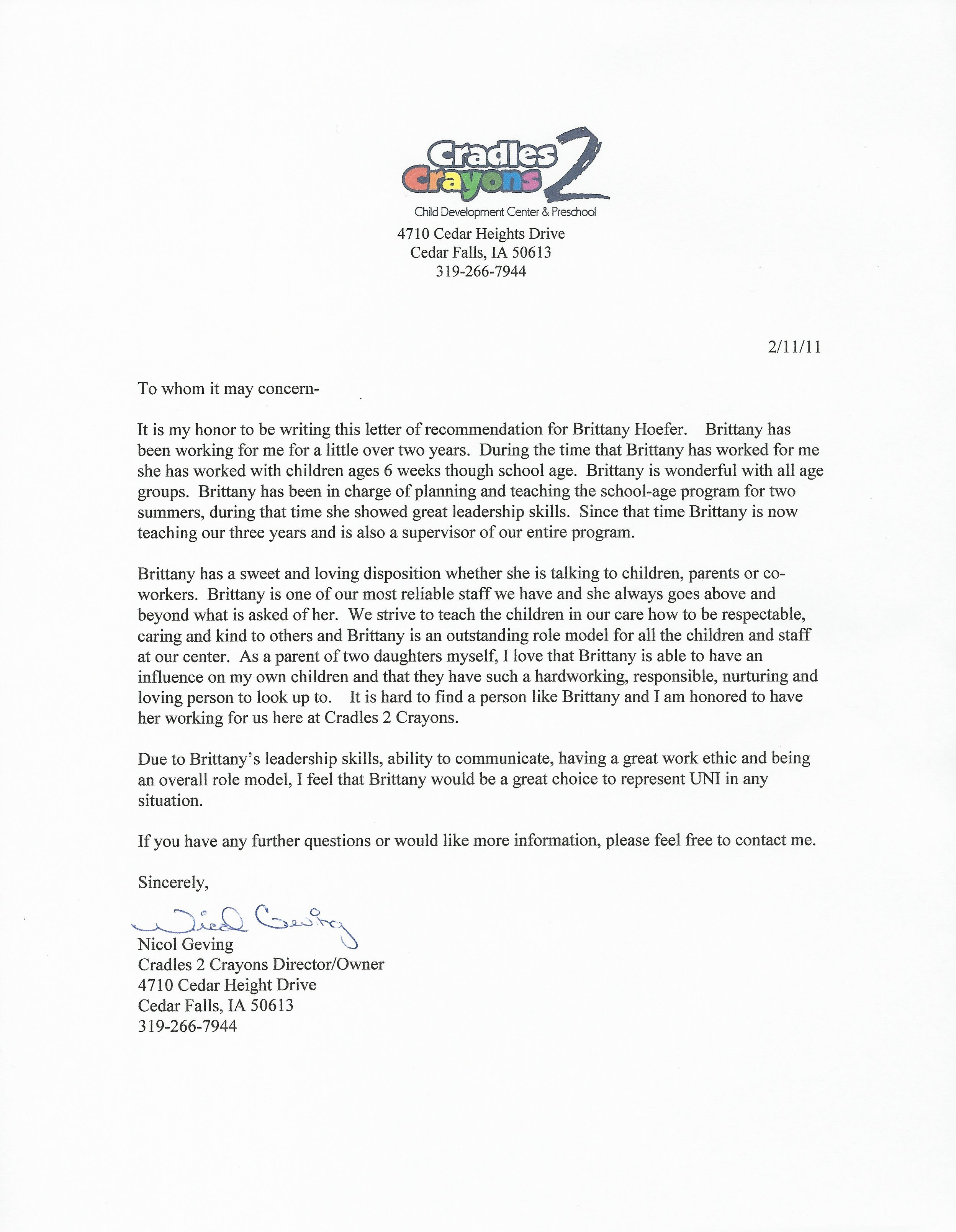recommendation letter for preschool teacher recommendation letter ...